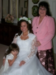Teresa, Jennifer and Alexis on wedding day