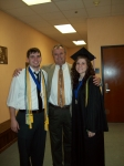 With my second son and future (now current) daughter-in-law at college graduation - May 2008.