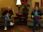 My Mom & Dad at The Inn at Christmas Place in Pigeon Forge