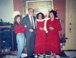 The In Laws - Christmas 1991.  Left to Right: Big L, My Father in law Bob, Sister in law Linda, and my Mother in law Cla
