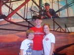 The Wright brothers meet the right Kids...Franklin, Goodwin and Laura Leigh Scott