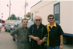 back stage at the King Biscuit 2005, before going on, with our lead singer aj on the right and 'Steady Rollin' Bob Mar