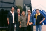 AJ and the Two Tone Blues Band, back stage at our bus, not really, the bus belonged to the Kentucky Headhunters.